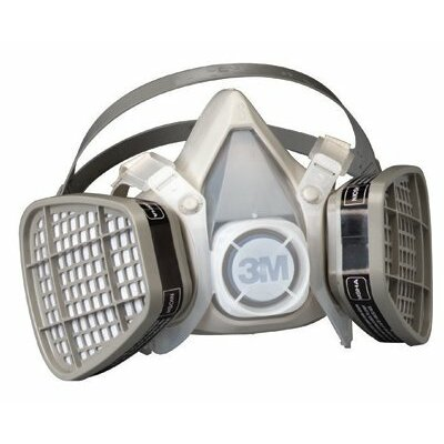 3M 5000 Series Half Facepiece Respirators - 21565 small easi-care respirator organic vap