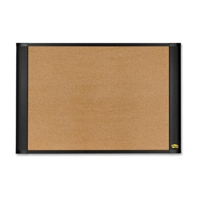 "3M Cork Bulletin Board, Self Sticking, 36""x24"", Brown"