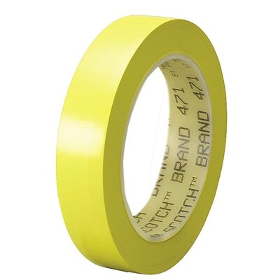 "3M Marking Tape, Vinyl, 1"" x 108', Yellow"
