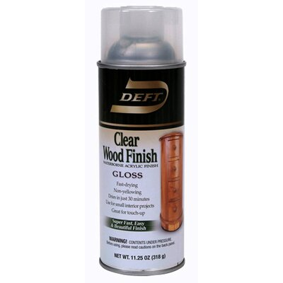 12.25 Oz Clear Interior Waterborne Wood Finish Gloss