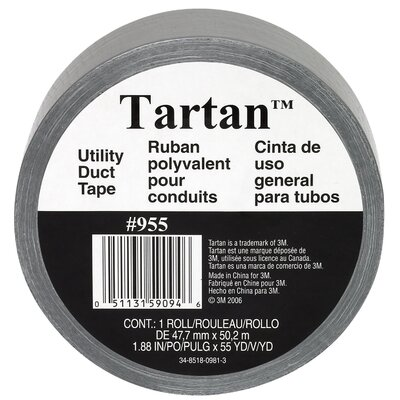 "3M 1.88"" x 55 Yards Tartan Utility Duct Tape"