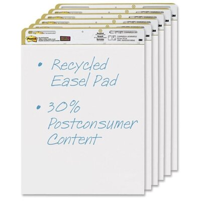 3M Post-it Repositionable Self-Stick Easel Pads (6 Per Pack)