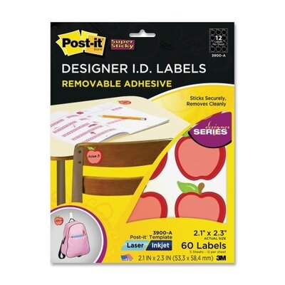 3M Post-it Apple Identification Labels (5 Per Pack)