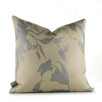 Inhabit Morning Glory Organic Pillow in Silver