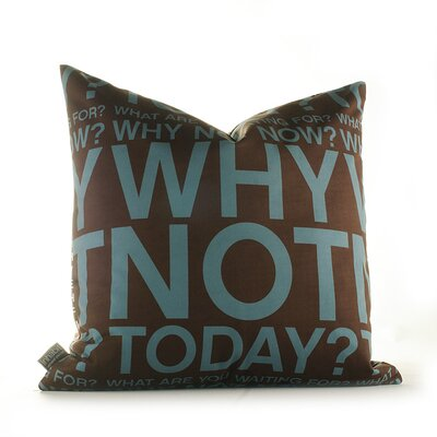 Inhabit Why Not Pillow in Cornflower and Chocolate