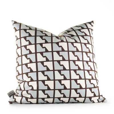 Inhabit Estrella Faux Houndstooth Pillow in Cornflower