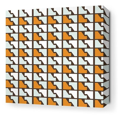 Inhabit Estrella Faux Houndstooth Stretched Wall Art in Sunshine