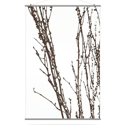 "Inhabit Morning Glory 48"" x 72"" Undergrowth 2 Slat in Chocolate"