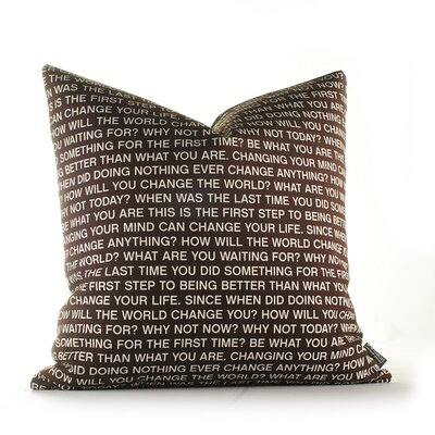 Inhabit Change the World Pillow in Scarlet