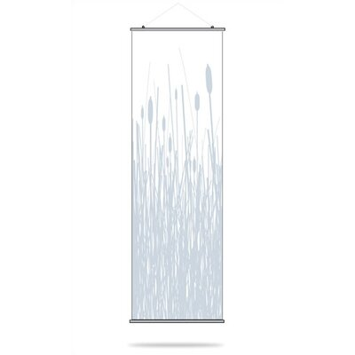 Inhabit Cattails Slat Hanging Panel in Ice