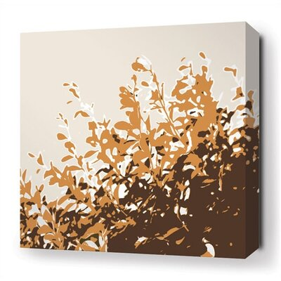 Inhabit Foliage Stretched Wall Art in Sunshine