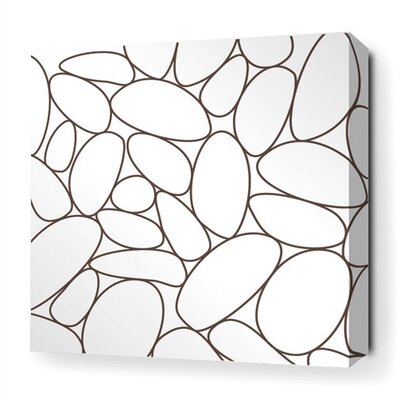 Inhabit River Rock Stretched Wall Art