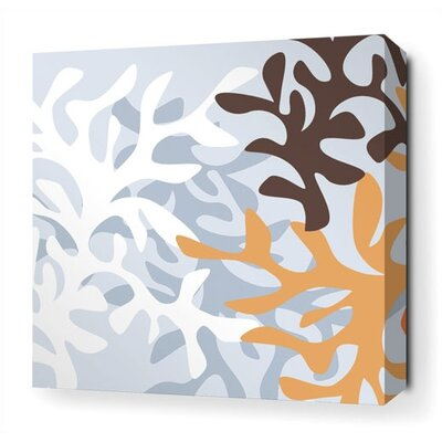 Inhabit Reef Stretched Wall Art in Aqua