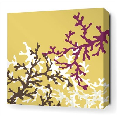 Inhabit Coral Stretched Wall Art in Plum