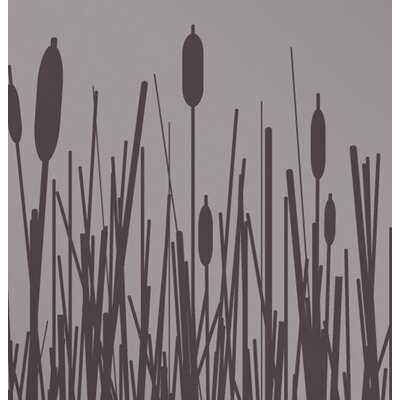 Inhabit Cattails Stretched Wall Art in Mineral