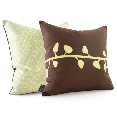 Inhabit Sprout Throw Pillow in Chocolate