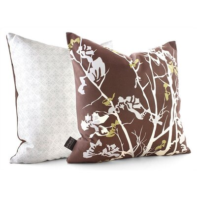 Inhabit Rhythm Ailanthus Suede Throw Pillow