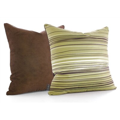 Inhabit Rain Throw Pillow in Grass