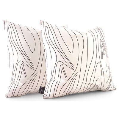 Inhabit Madera Throw Pillow in White