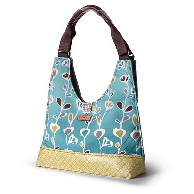 Inhabit Reagan Stencil Handbag in Aqua
