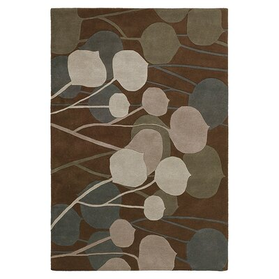 Inhabit Seedling Rug in Chocolate/ Natural