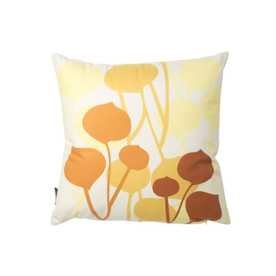 Inhabit Aequorea Seedling Graphic Pillow in Pale Yellow