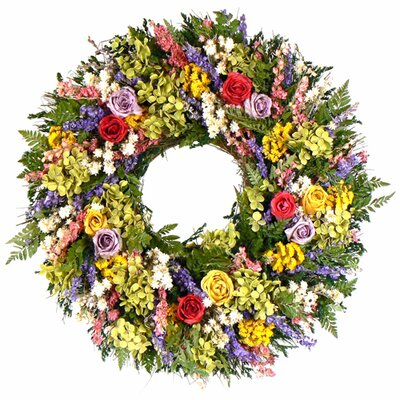 Urban Florals Roses and Berries Wreath