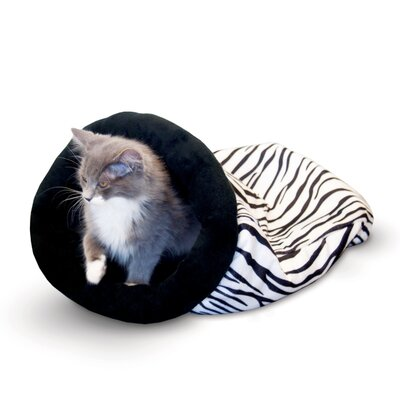 K&H Manufacturing Self Warming Zebra Kitty Sack