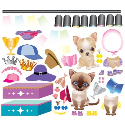 Mona Melisa Designs Peel and Play Pet Fashion Accessory Pack