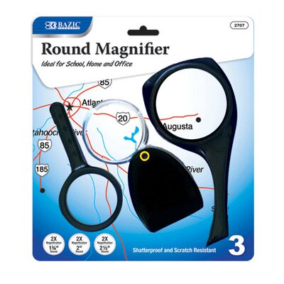 Bazic 2X Magnifier Sets (Set of 3)