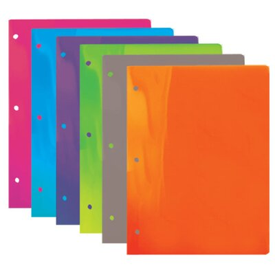 Bazic Translucent 2-Pockets Poly Portfolio (Set of 48)
