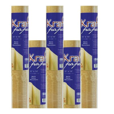 Bazic All-Purpose Natural Kraft Wrap Paper Roll (Set of 36)