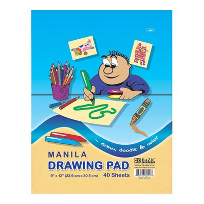 Bazic Manila Drawing Pad (Set of 48)