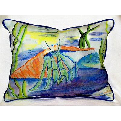 Betsy Drake Interiors Coastal Hermit Indoor / Outdoor Pillow