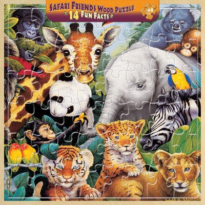 Jenny Newland Safari Friends 48 Piece Jigsaw Puzzle