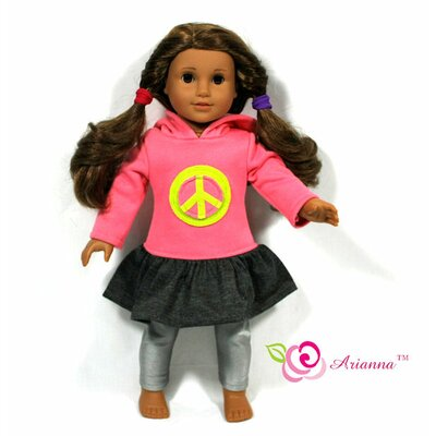 "Arianna Peace Hoodie Dress for 18"" American Girl Doll"