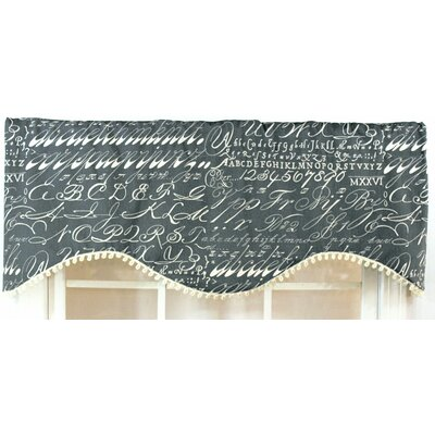 RLF Home Alphabet Shaped Cotton Blend Rod Pocket Scalloped Curtain Valance