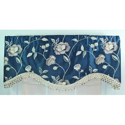RLF Home Bonita Rod Pocket Scalloped Curtain Valance