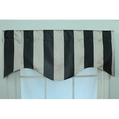 RLF Home Actual Stripe Shaped Rod Pocket Scalloped Curtain Valance