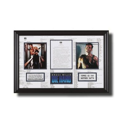 Legendary Art Framed 'Die Hard' Memorabilia