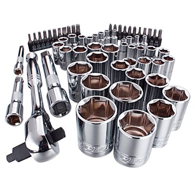 Viper Tool Storage 63 Piece Ratchet and Socket Set