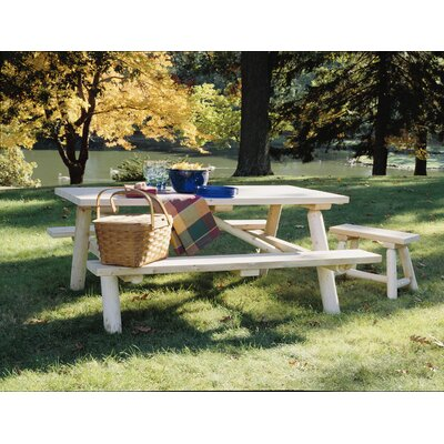 Rustic Natural Cedar Furniture 36'' Wood Picnic Bench