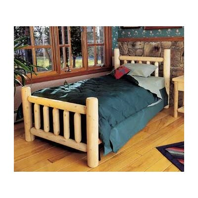Rustic Natural Cedar Furniture Rustic Slat Headboard