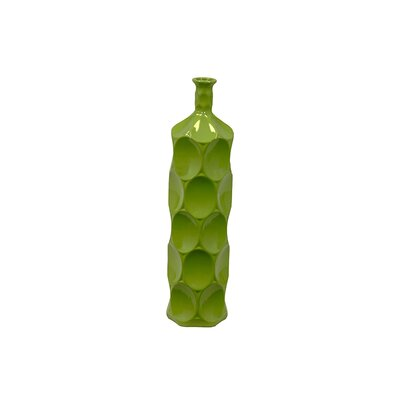 Urban Trends Green Ceramic Bottle