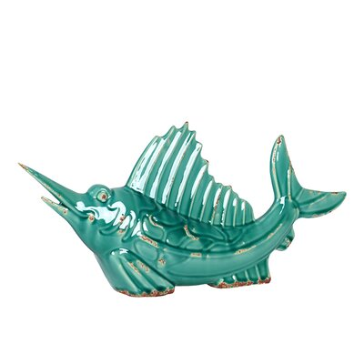 Urban Trends Ceramic Sail Fish Statue