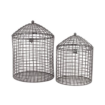Urban Trends Metal Container with Lid (Set of 2)