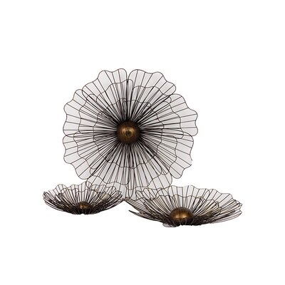 Urban Trends Metal Flowers Wall Decor (Set of 3)