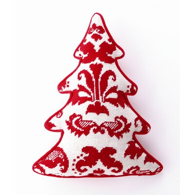 Peking Handicraft Red Toile Tree Shaped Pillow