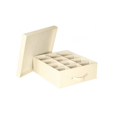 Richards Homewares Tabletop Storage Faux Leather Cup Chest