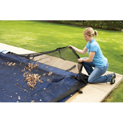 Dirt Defender Dirt Defender Rectangular Leaf Net In Ground Pool Cover